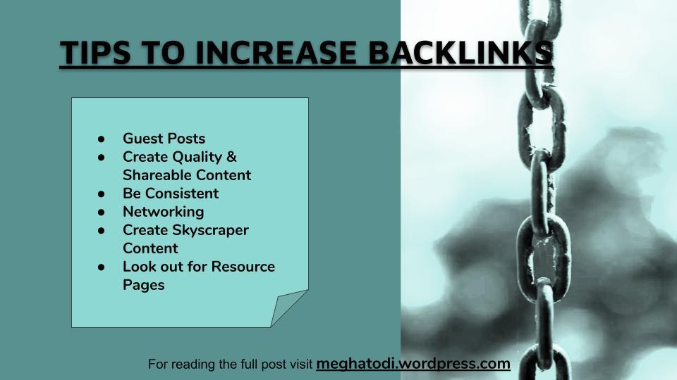 #SundayThoughts  Sharing Tips on Increasing your Backlinks Post Link-https://meghatodi.wordpress.com/2020/04/24/tips-for-increasing-backlinks-to-your-website/…  #WritingCommunity #Writers #blogger #DigitalMarketing #backlinks #MarketingDigital pic.twitter.com/zzrsAaTLhn