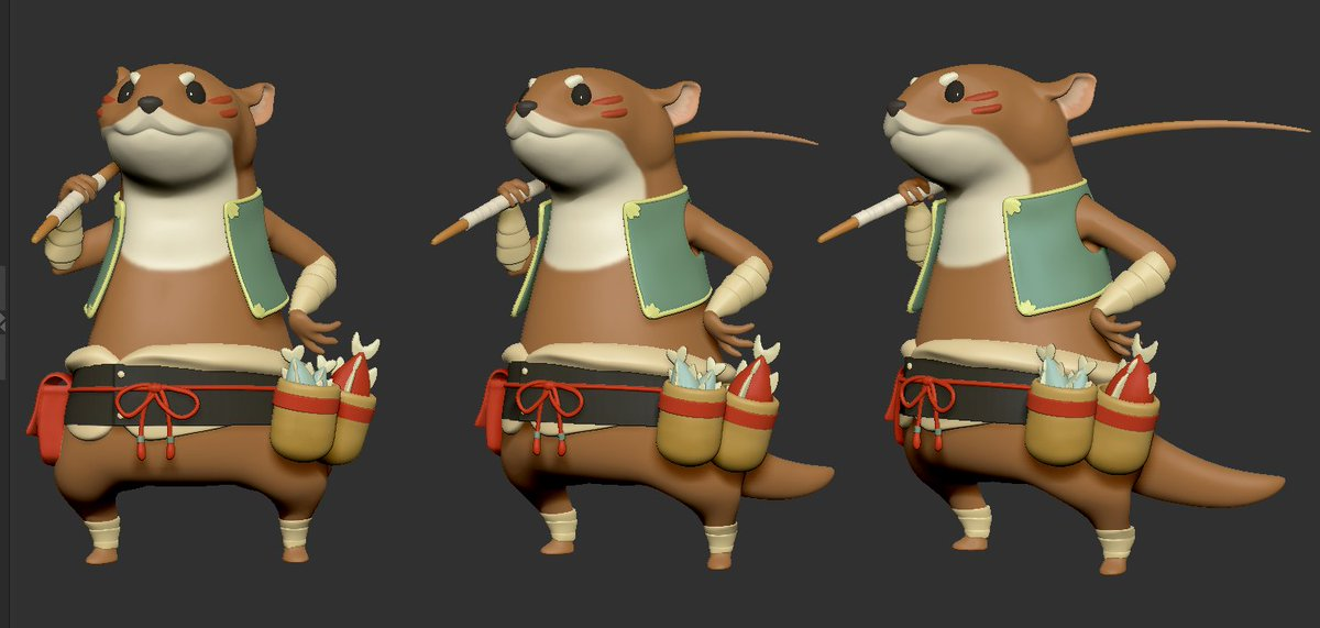 Cartoon Fishing Weasel - FINISH! #ZBrushModel #ZBrushSculpt #ZBrushAtHome #zbrush #girl #character #sculpting  #3dmodeling #cartoon  #フィギュア  #figure  #art #artist  #digitalart #Sculpture  #instaartist #zbrushart  #DigitalArt #weaselpic.twitter.com/I8Y0X5uA5P