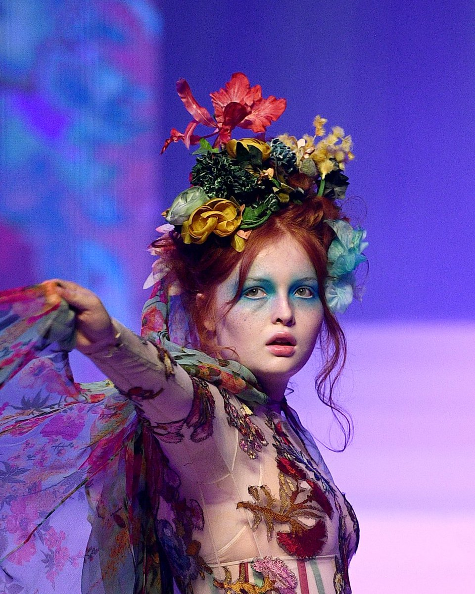 Mother Nature personified  Model Tess McMillan on the runway for @JPGaultier's final show during #PFW Spring/Summer Haute Couture. Photo by @GettyImages, January 2020.pic.twitter.com/22ZMOYPLMO