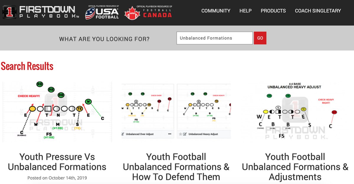 """Need some help running or defending unbalanced formations? Head over here and type in """"Unbalanced Formations"""" into the search engine: http://blog.firstdownplaybook.com  #FootBallPlays #YouthFootBall #PopWarner #AYF #USAFootball #FootBallCoach #FootBallCoaching #CoachesCommunitypic.twitter.com/kksUXfdNiN"""