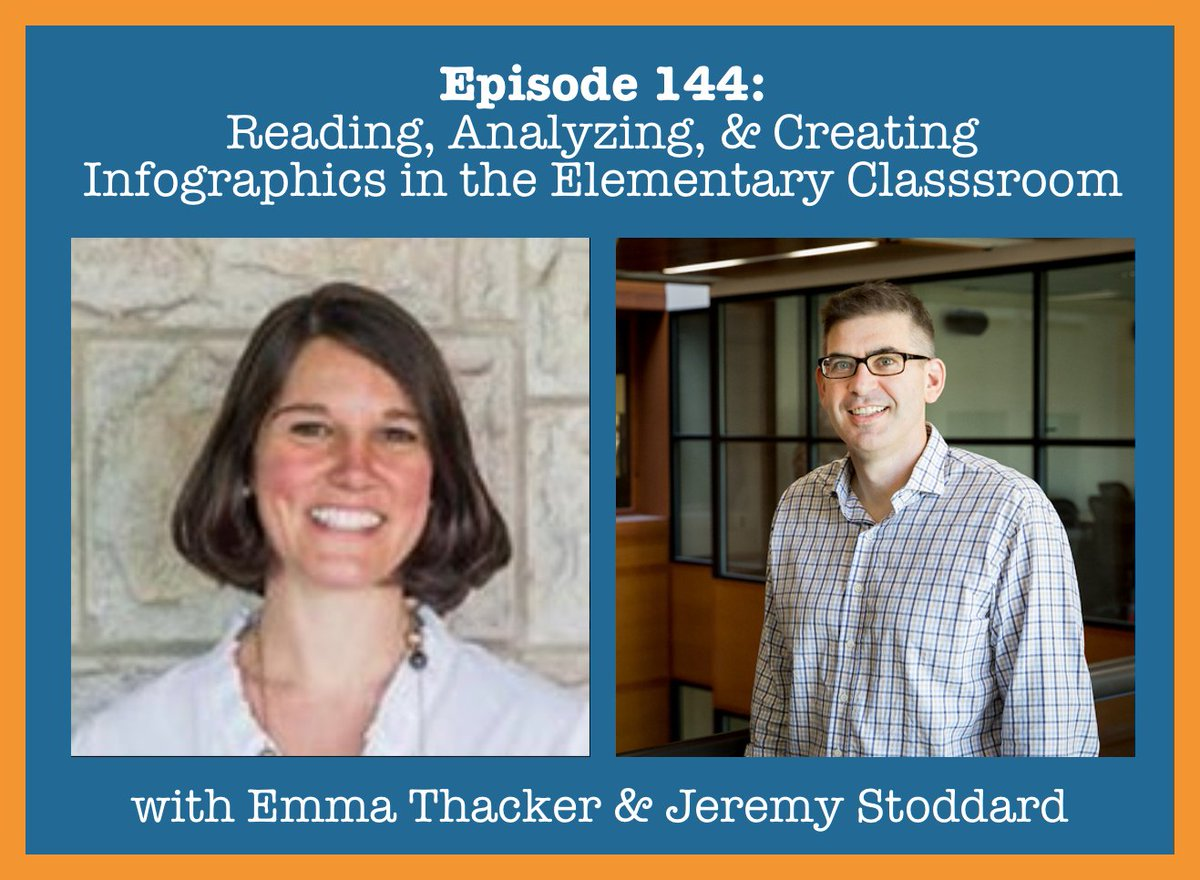 NEW POD: Episode 144: Reading, Analyzing, and Creating Informational Graphics in the Elementary Classroom by @EmmaSThacker & @Jeremy_Stoddard: visionsofed.com/2020/05/24/epi… @NCSSPubs @NCSSNetwork