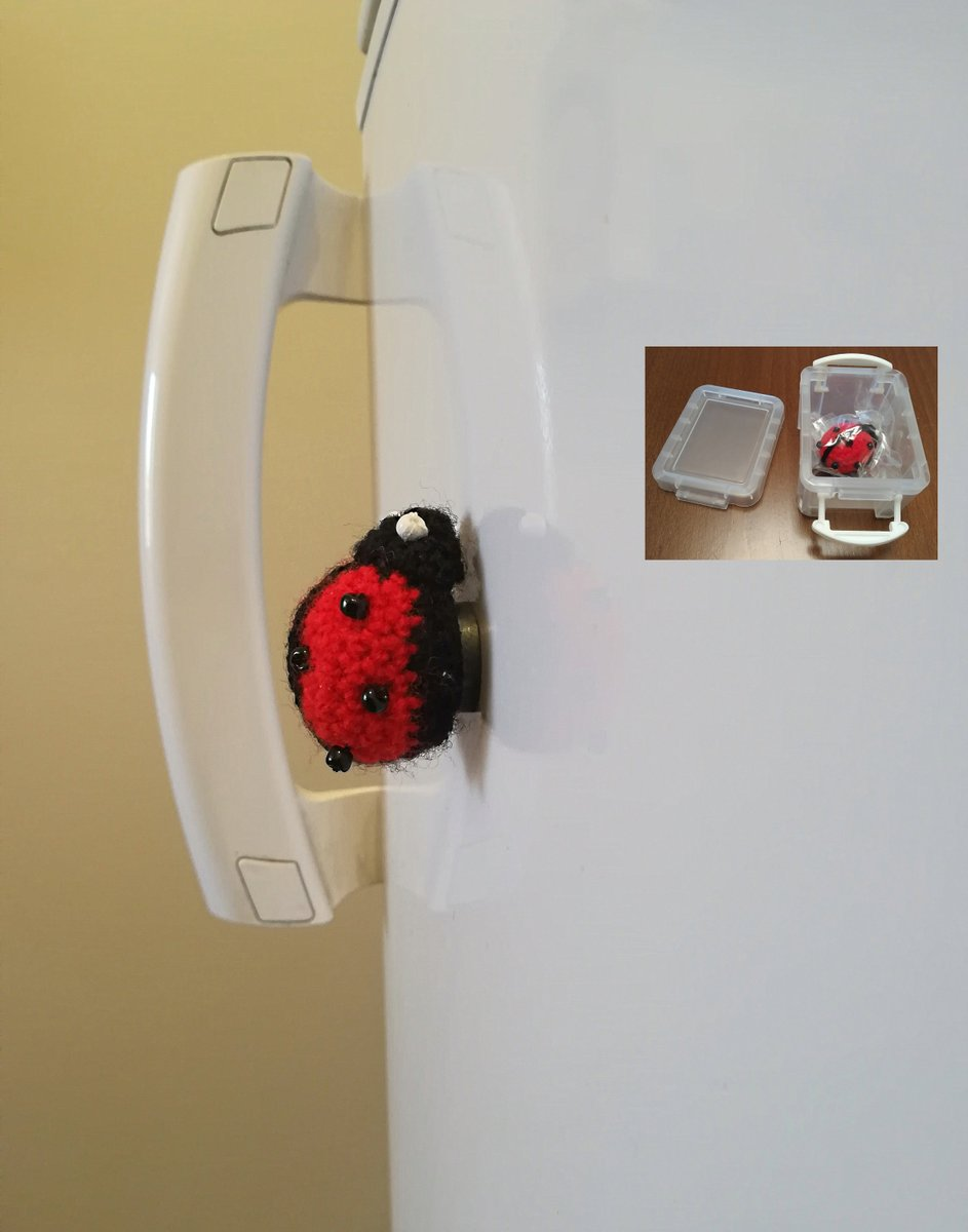 Knitted Ladybug Magnet, Red Toy Ladybird, Insect Toy, Accessories, Plushies, Animals, Magnets Check It Out #knittedtoy #knittedaccessories #toyanimals https://www.etsy.com/listing/590609464/knitted-ladybug-magnet-red-toy-ladybird?utm_source=tweeteye&utm_medium=api&utm_campaign=api …pic.twitter.com/5wnkEDXxN2