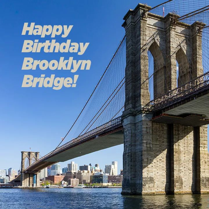 HAPPY BIRTHDAY! On this date, May 24, 1883 the #BrooklynBridge opened connecting Manhattan and Brooklyn. pic.twitter.com/RyVh5iUYRB