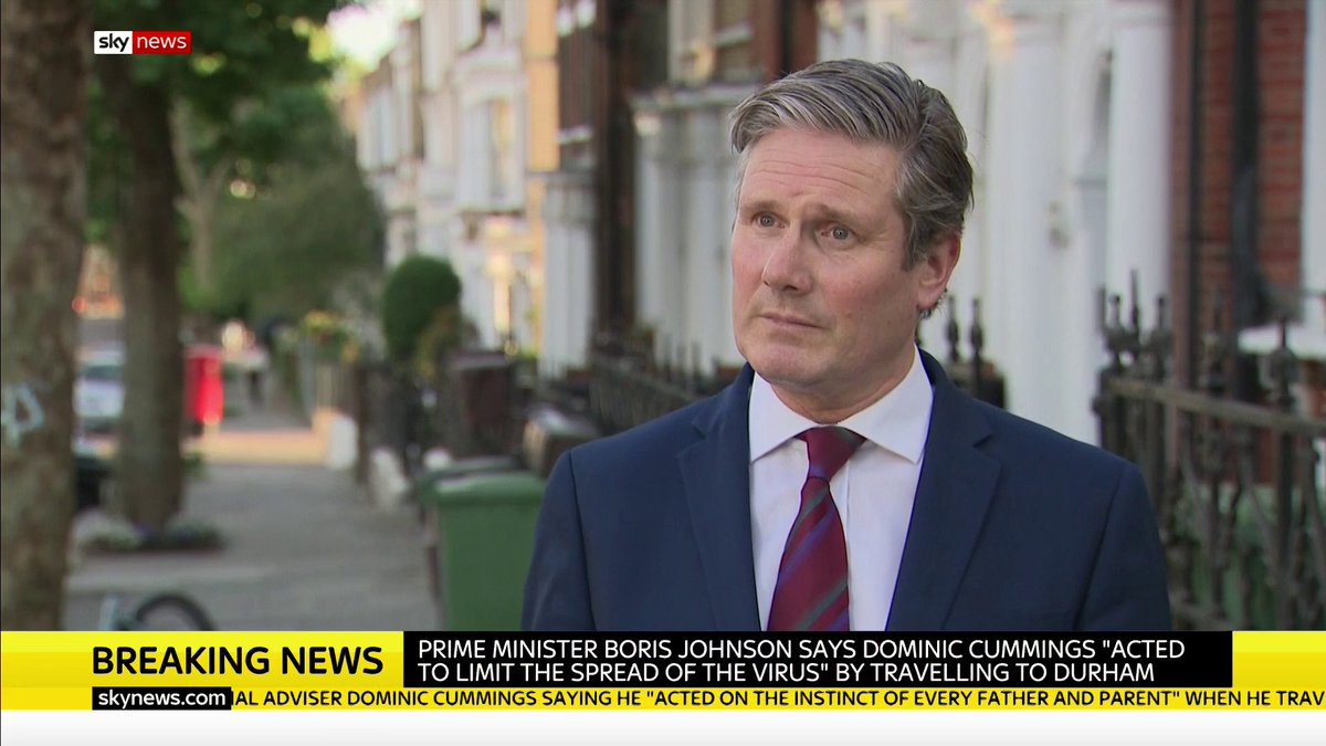 """""""If I were Prime Minister, I would have sacked Cummings.""""  Labour Leader Sir Keir Starmer has called for an investigation into accusations Dominic Cummings broke lockdown rules, saying Boris Johnson is """"treating the British public with contempt.""""  More: https://t.co/zRpwDBAG5n https://t.co/grGJ9OeLgo"""