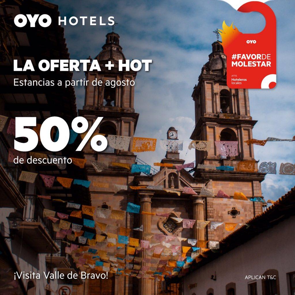 Que levante la mano quién quiere ya viajar ☝🏼 👙🎒Aprovechen este #HotSale de @MexicoOyo compren al 50% para irse de agosto a diciembre. Con más de 700 hoteles en el país elijan desde una playa hasta #pueblomágico. #FavorDeMolestar #OYOMéxico más info en