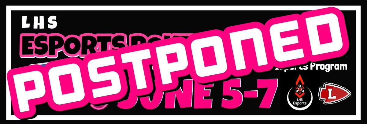 FYI, June Charity Pokemon Tourney has been postponed.  More details to come.  #EsportsClassic #LES #charity pic.twitter.com/vpTkcrIdFj