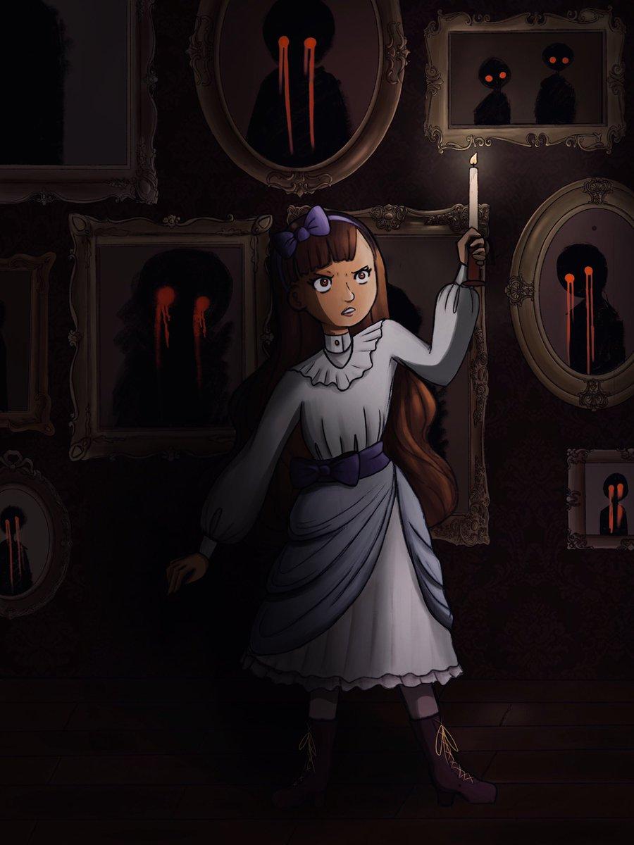 𝑰 𝒇𝒆𝒆𝒍 𝒔𝒐𝒎𝒆𝒕𝒉𝒊𝒏𝒈 𝒘𝒂𝒕𝒄𝒉𝒊𝒏𝒈 𝒎𝒆 𝒊𝒏 𝒕𝒉𝒆 𝒅𝒂𝒓𝒌... #illustration #artistsontwitter #procreate #horror #paranormal #spooky #digitalillustration #darkpic.twitter.com/K75qvmaQFh