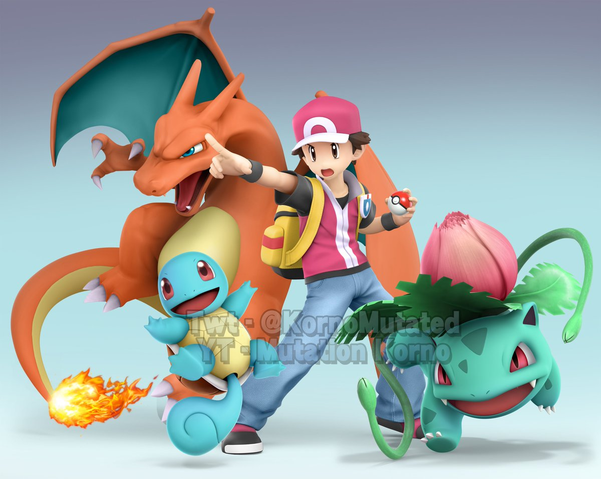 I choose you! Here's Red and his Pokemon in there brawl style! #SuperSmashBros<br>http://pic.twitter.com/4Rgj78ifEy