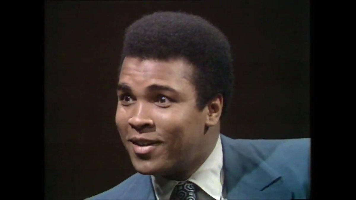 """""""How come is everything white?"""" —Muhammad Ali, 1971   Ali would have been 79 years old today (January 17, 1942) #WhatsappStatus #whatsappwonderbox"""