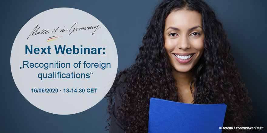 """📢🗓️SAVE THE DATE: Do I need a #recognition of my #qualification? The information portal """"Recognition in Germany"""" will explain to you everything you need to know about the recognition process in our next webinar! Register now: https://t.co/sUNYc3Zw8y https://t.co/pysCEA10g5"""