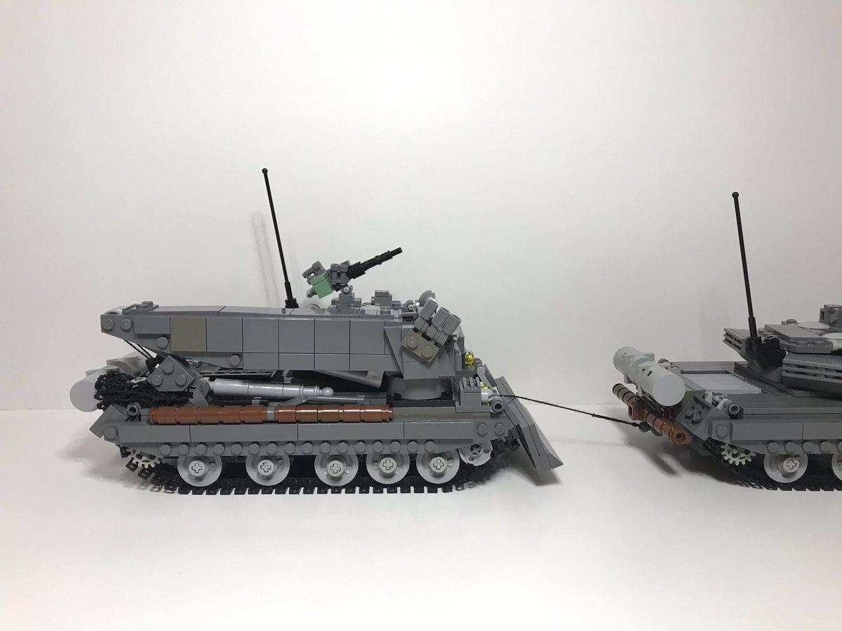 """ばんぶー工廠 Twitterissä: """"T-82T 装甲回収車を作りました。 主力戦車 ..."""