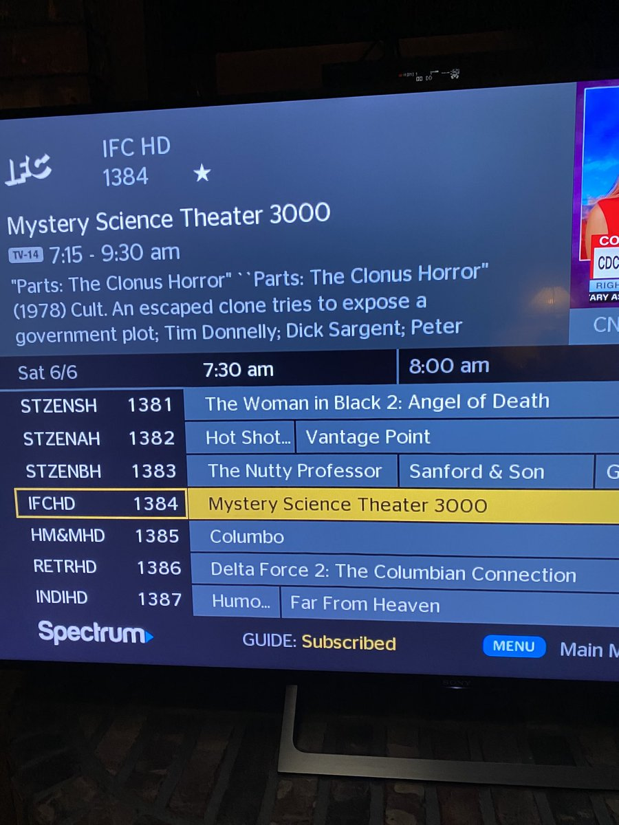 Happiness on a Saturday morning. ⁦@MST3K⁩ ⁦@MST3KInfo⁩ ⁦@IFC⁩ Big thanks to IFC. #MST3K
