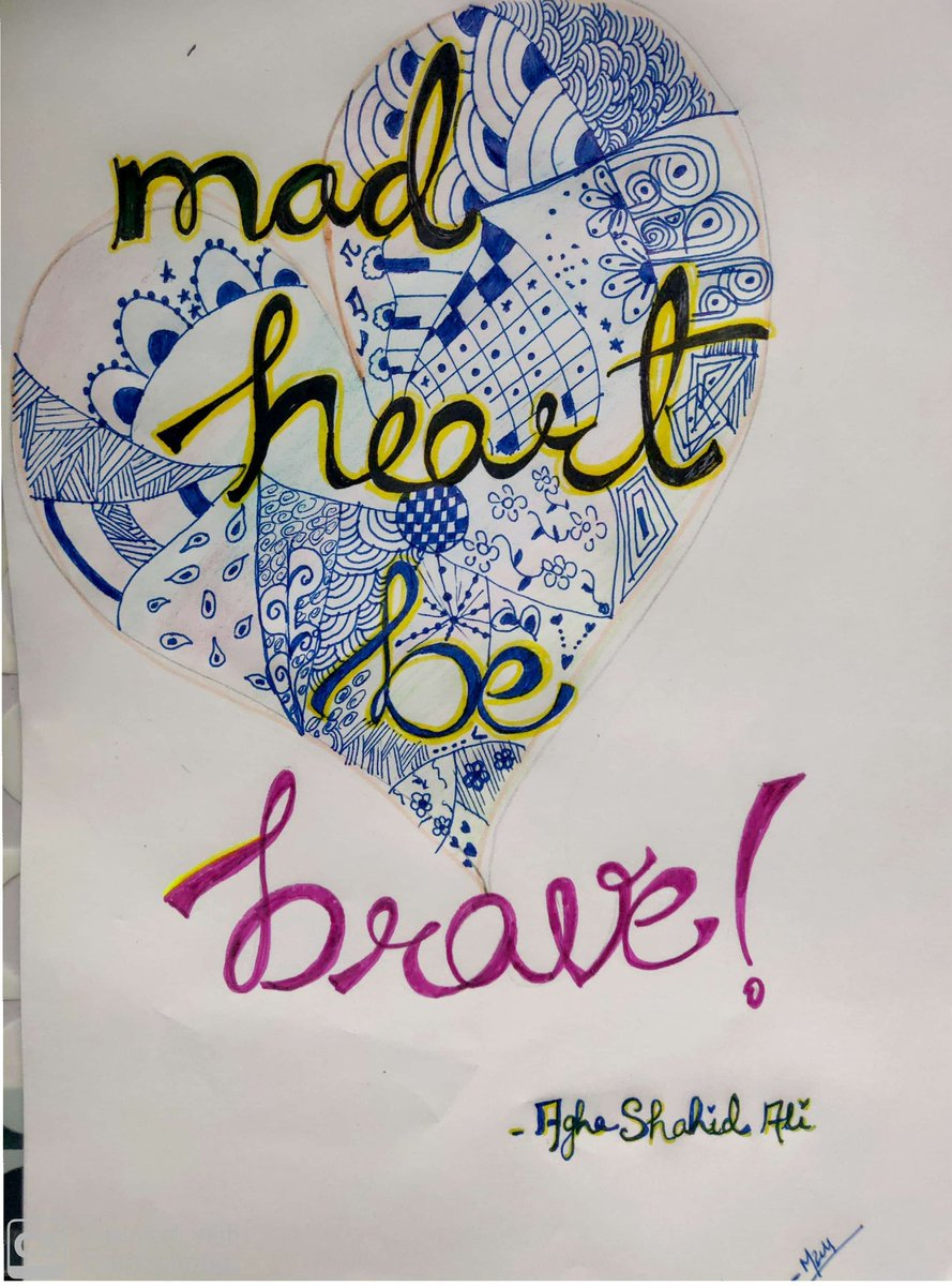 Mad Heart Be Brave!!  #FavoriteQuote @AghaShaahidAli  #Weekends pic.twitter.com/9kUThWtD0P