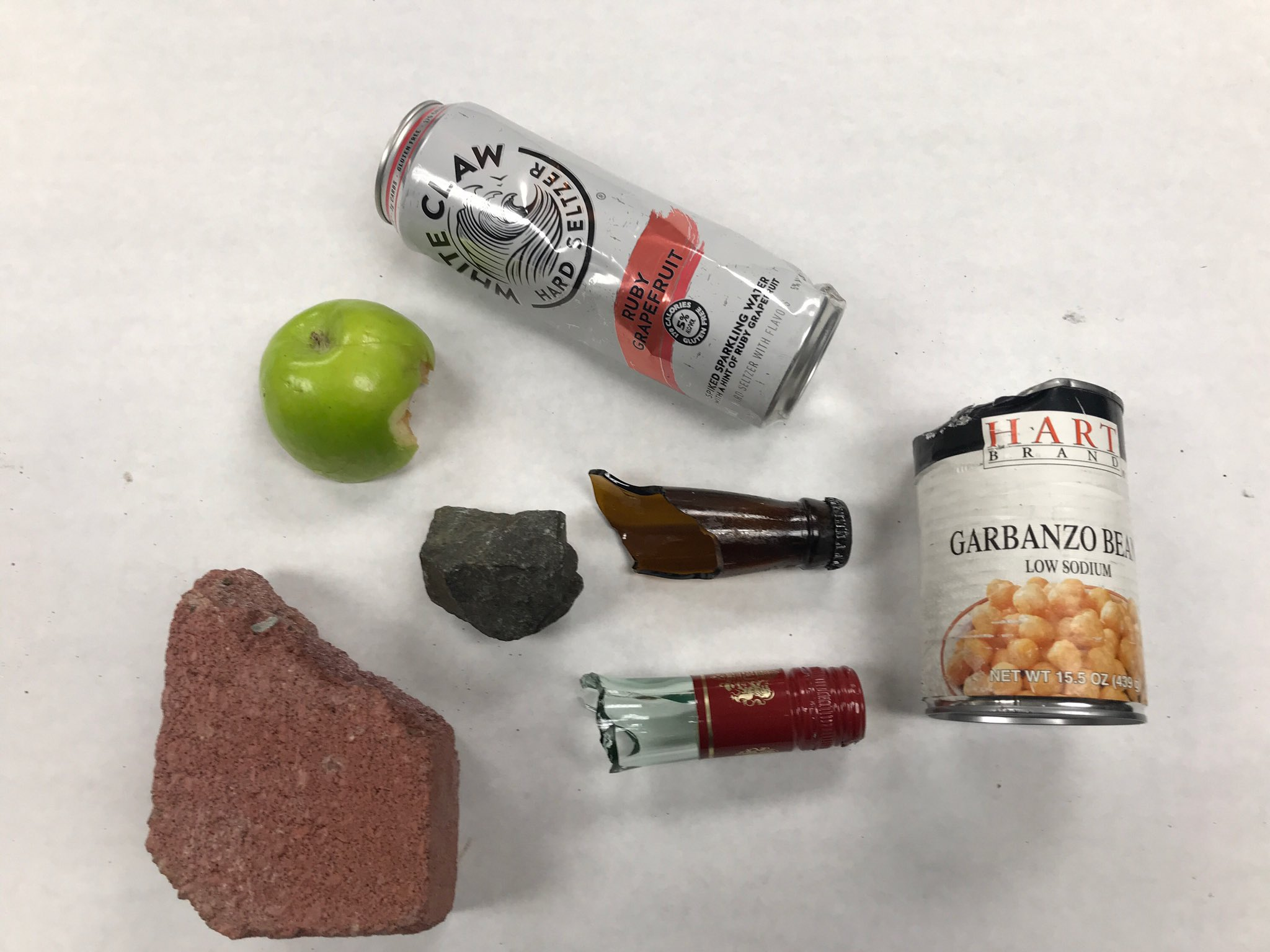 Projectiles Thrown at Officers:  Full beverage cans, bricks, canned food, rocks, bottles, Food