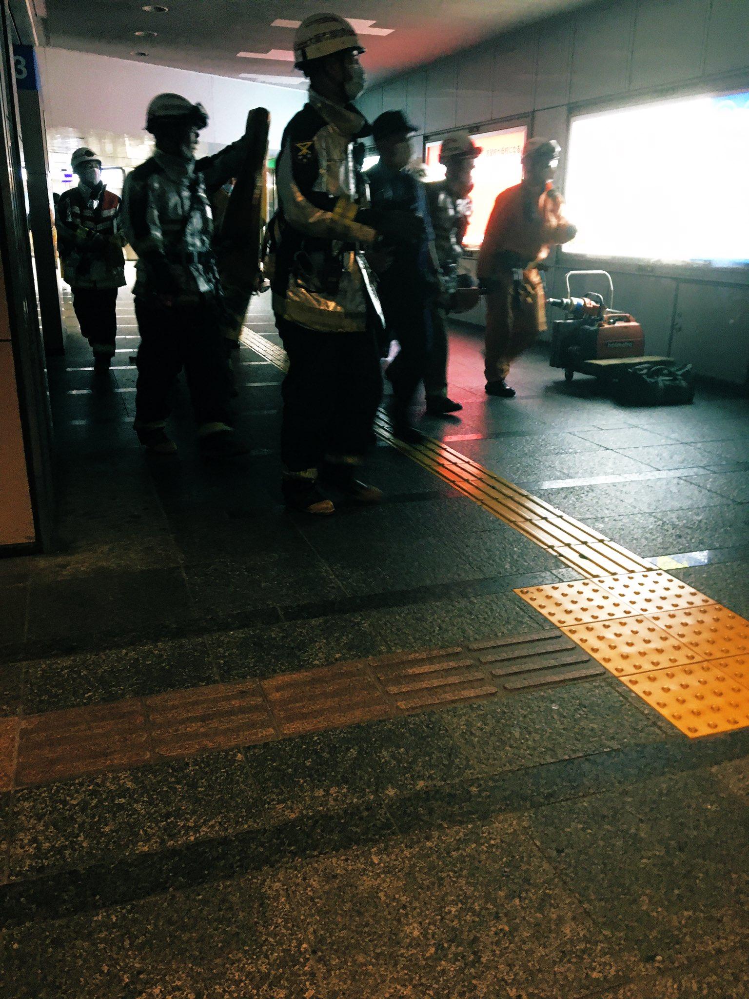 なんば駅で人身事故が起きた現場の画像