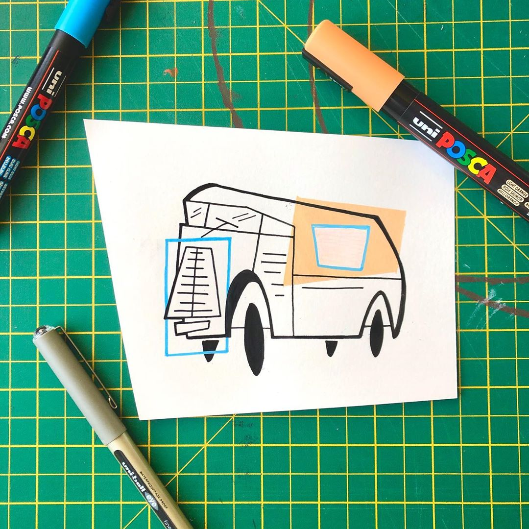 VROOOM! A quirky little bakers van by @willthehamilton – great art style, great pens!  #PenArt #Doodles #POSCA #POSCAart #POSCAPens #carveouttimeforart #contemporaryart #artstudio #makearteveryday #instaart #arts_gallery #inthestudio #thenativecreative #pursuepretty pic.twitter.com/KGjd2uauT6