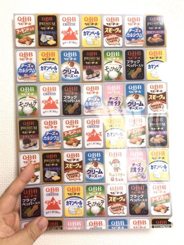 10種以上のパッケージをびっしり配置ベビーチーズの限定クリアファイルが「ズバリ」で最高なデザイン