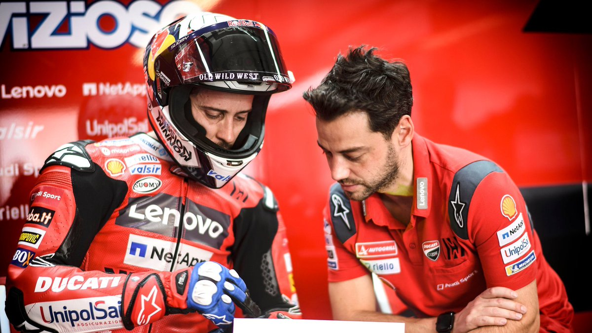 Find out all the secrets of the Ducati Team! Watch the first EPISODE of TECNODOVI 🔧with @AndreaDovizioso and Alberto Giribuola, his crew chief, explaining what happens when the rider comes into the pits! 🎞️| WATCH VIDEO bit.ly/2MvZGrs @SkySportMotoGP | @MotoGP