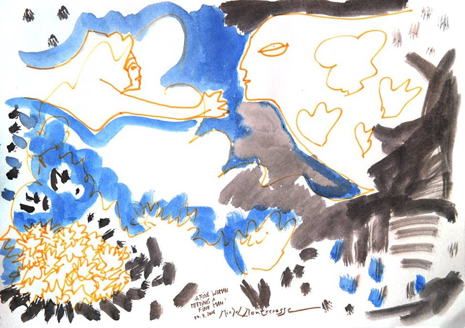 #art painting by Michel #Montecrossa A Fine Woman Meeting A Fine Man @lebalzin @theofania40 @mhall55nine @iliana_uribe @ejlazar @choochad95 @pinoywilson @ArtistRTweeters #painting #woman #man #meeting #contemporaryart #originalart #abstractart #artforsale https://MichelMontecrossa.compic.twitter.com/qstcyuhRWa