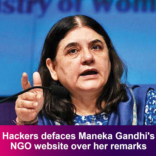 Hackers defaces Maneka Gandhi's NGO website over her remarks  READ MORE STORIES : DOWNLOAD BEYOND Pink APP NOW : Play Store: (link: https://goo.gl/GknGX5 ) http://goo.gl/GknGX5  App Store: (link: https://lnkd.in/gwK6MK ) http://lnkd.in/gwK6MKq   #menakagandhipic.twitter.com/KwDMepFuIY