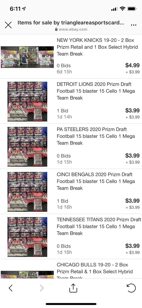 @Triangleareasp1 has a cost efficient @NFL break coming up Monday night! ebay link in bio! @NBA mixer also added! . .  #nfl #football #sports #nba #paniniamerica #superbowl #nfldraft #nflnews #mlb #life #nflfootball… http://instagram.com/p/CBFwWnqnjT4/…pic.twitter.com/feBroOuzLh
