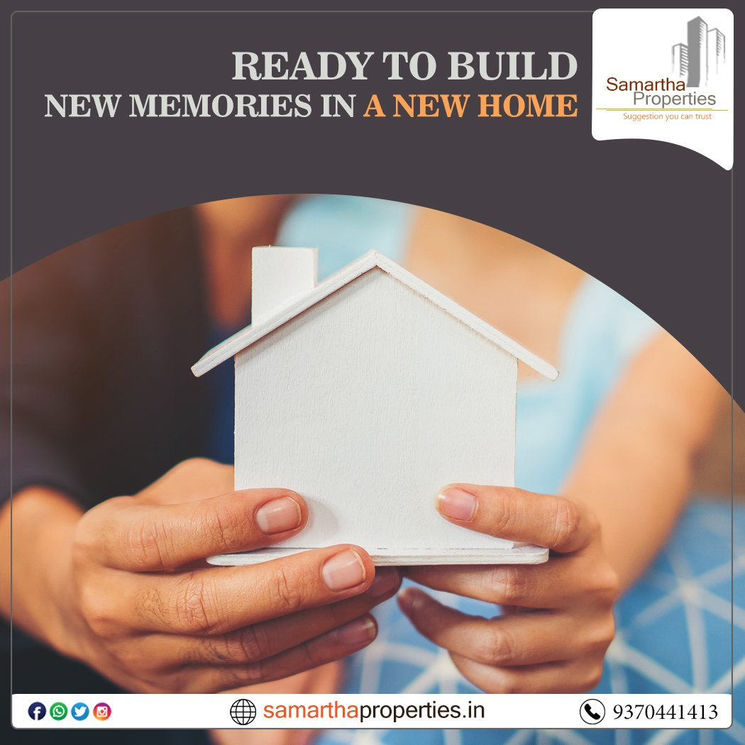 Ready to Build New Memories in a New Home  Visit us @https://samarthaproperties.in/  #properties #realestate #property #realtor #forsale #newhome #househunting #home #realestateagent #investmentpic.twitter.com/bqX7ZkgPrM