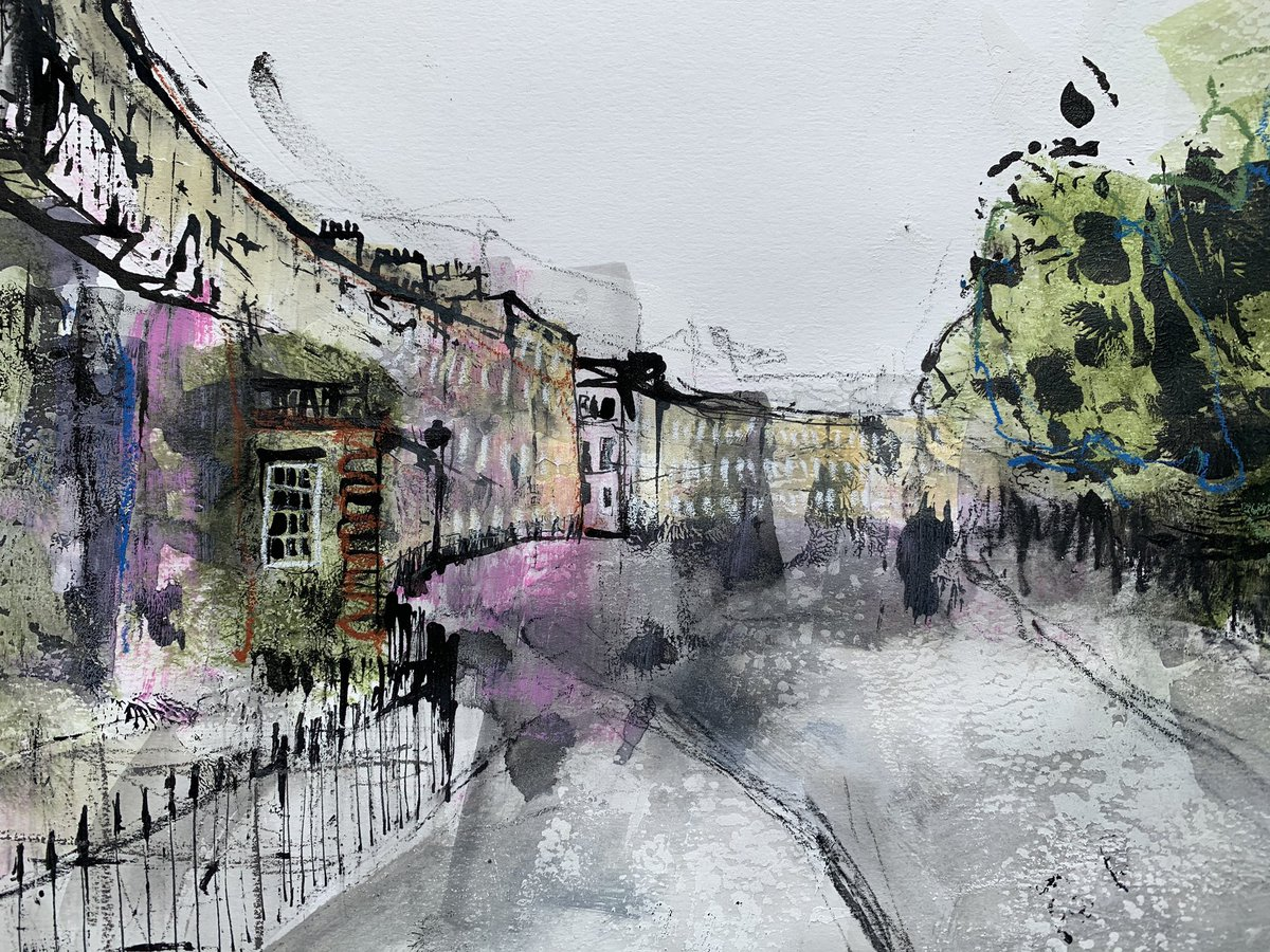 Currently working on this painting of Abercromby Place. #Edinburgh #art pic.twitter.com/25otYFROLl