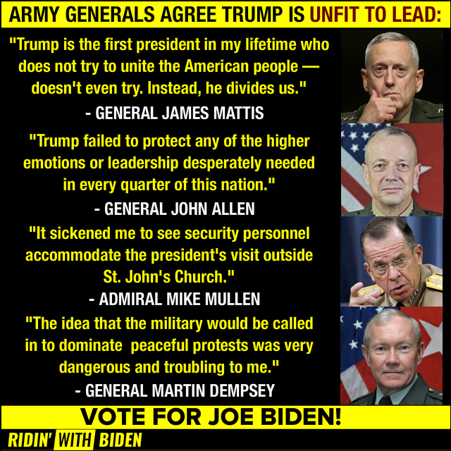 There was a time when #TrumpTrain and other trump sycophants said they respected the military, but do they still? Have they turned on the military to blindly follow their #DearLeader?   Time will tell.  #TrumpTrain2020 #MAGA #MAGA2020 https://t.co/r7TumhelUK
