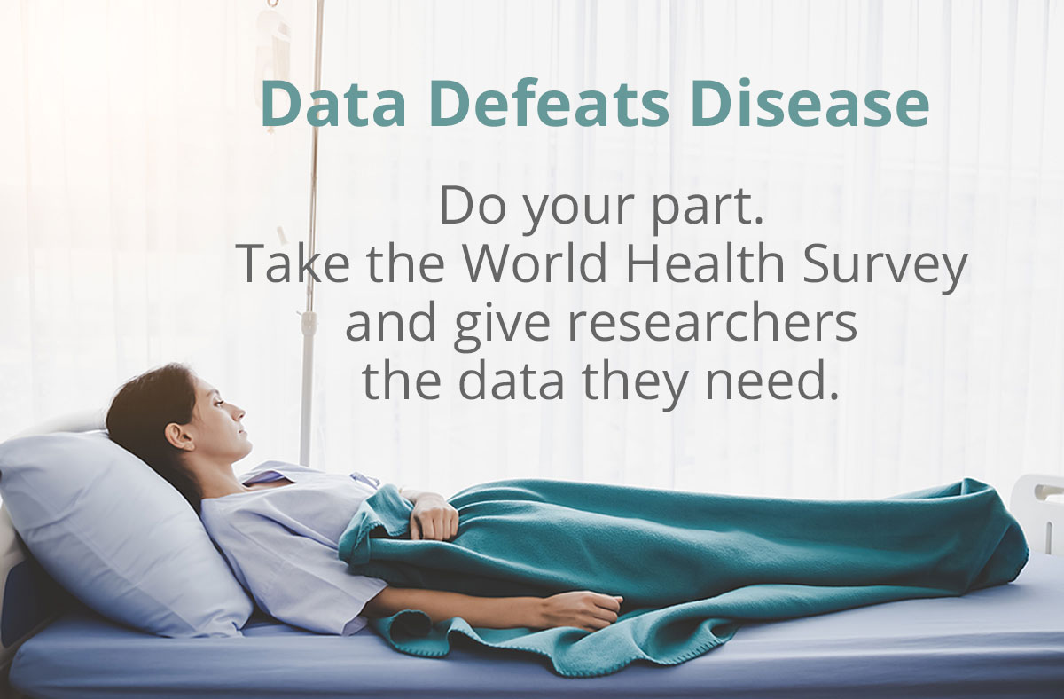 Do your part. Take the World Health Survey. Data Defeats Disease https://t.co/g0lYkpkn5v #datadefeatsdisease #heartdisease #cancers #cancersurvivor #stroke #copd #diabetes https://t.co/R4UyHEGBHq