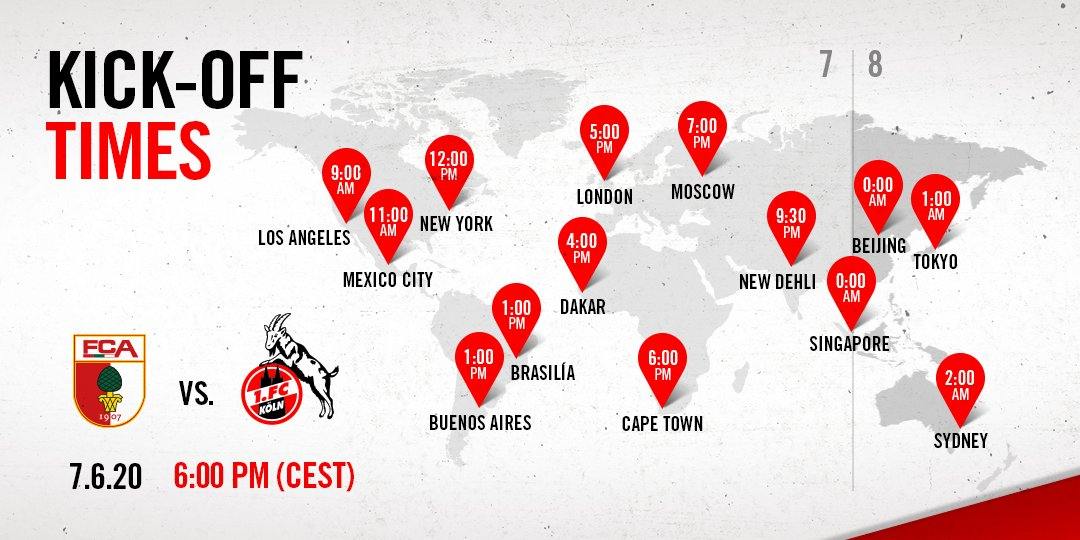 24 hours to go!   We travel to the WWK Arena on Sunday evening to take on @FCA_World!   Where in the world will you be taking in the game from, #effzeh fans?  ___ #FCAKOEpic.twitter.com/1QuN9Xdqan