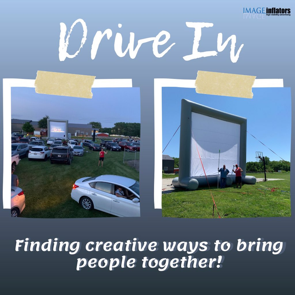 We were so happy to provide the screen for our friends @yfclincoln last night at their own drive in movie. This summer is all about finding unique ways to continuously bring people together!   #driveinmovie #greatestshowman #imageinflators pic.twitter.com/1ww44bcjO3