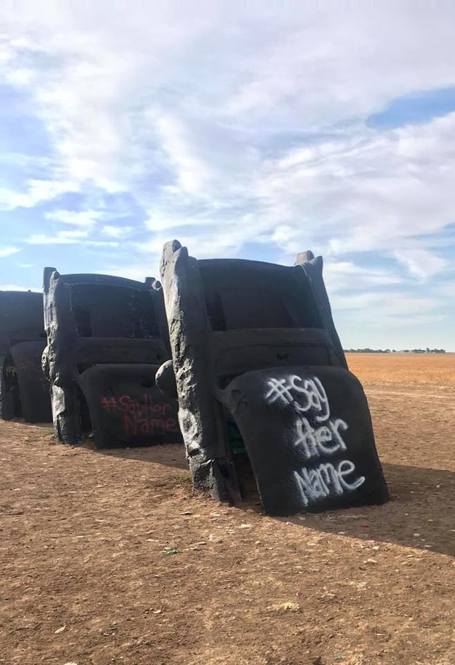 Cadillac ranch doing their part, proud of Amarillo 🙏🏻 https://t.co/hhD4ezwI6x