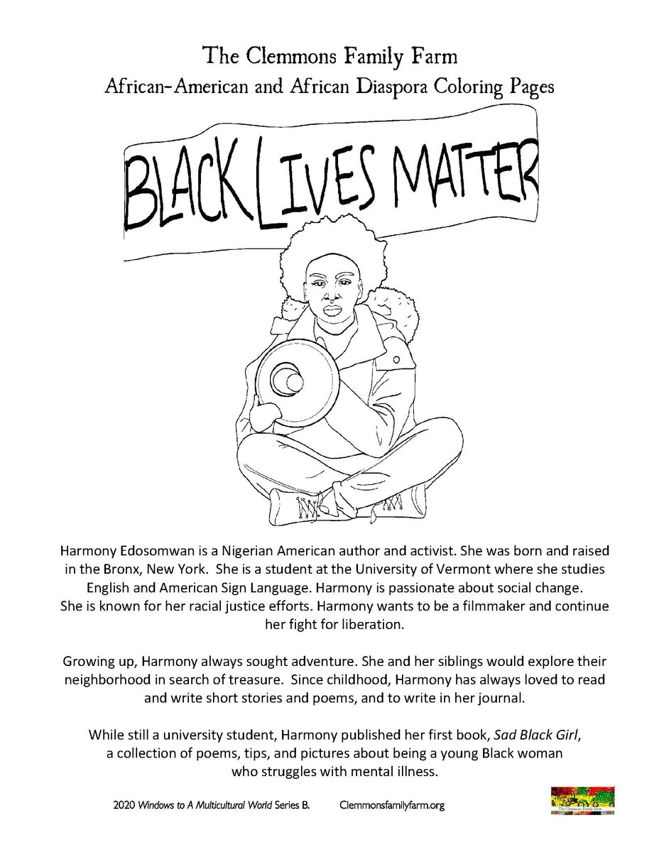 African American Coloring Pages For Kids - Coloring Home | 1200x928