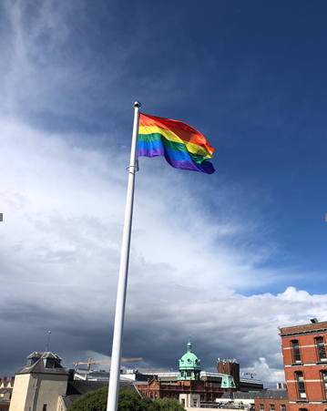 One of our Silver Partners @AXA Ireland HQ are flying Rainbow flag for the month of Pride #InThisTogether #DigitalDublinPride #DublinPride fly your flag with us at #VirtualPrideParade 28th June  Find out more here how you can be part of our #Pride parade https://t.co/jVroHvaTNQ https://t.co/JDb2K766Vu