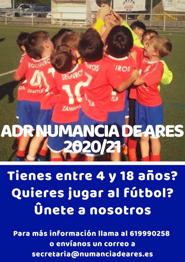 ADR Numancia de Ares. Captación de jugadores. 2020/21