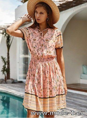 Boho Style A Linie Sommerkleid 2020 Kurz in Rosa #mode #fashion #kleid #kleider #damenmode #mode2020 #elegant #festlich #trend #trends #ssv #kollektion #sexy #sommerkleid #boho #vintage https://t.co/Wba5dMsJoc https://t.co/BEc1aModKa