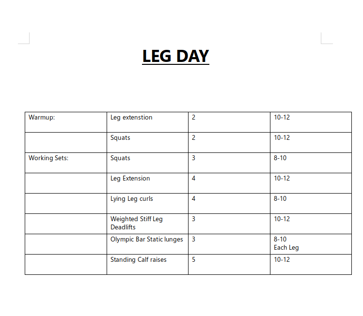 Heres the work out for the last two days, if anyone wants to do them. #workout #gains pic.twitter.com/eTuS3QXIfk