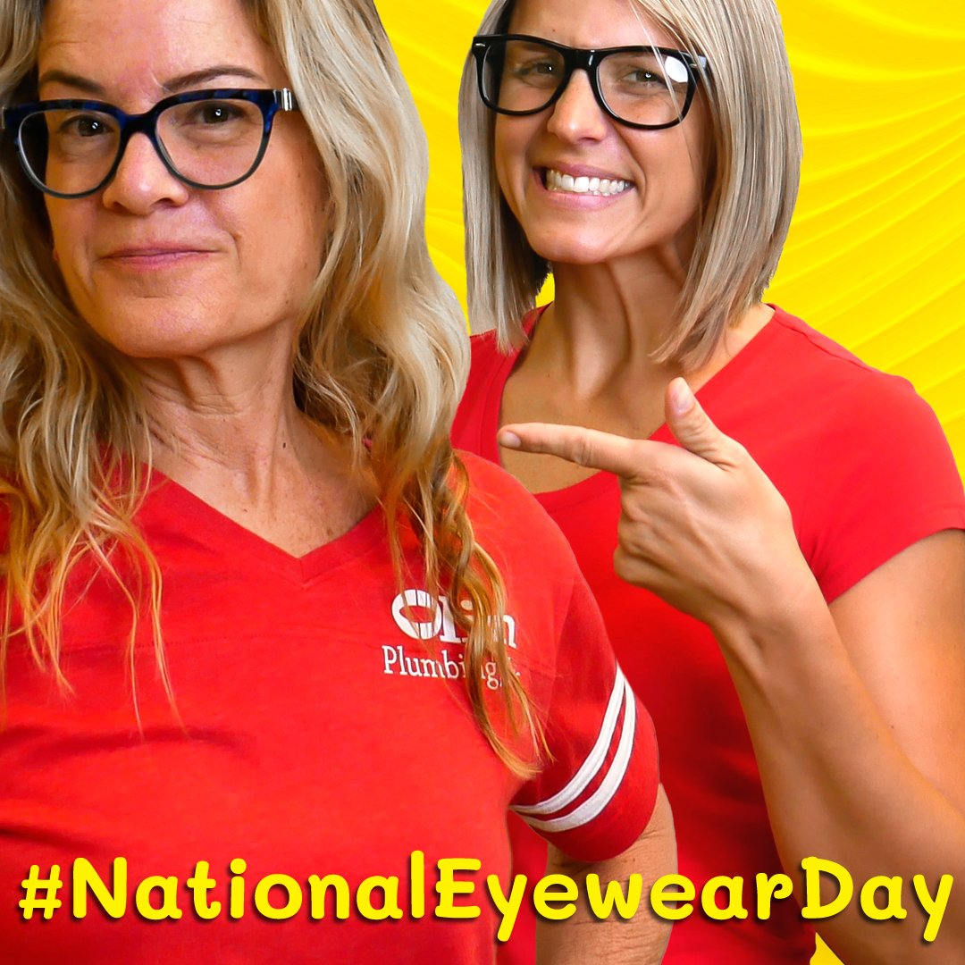 It's #NationalEyewearDay so show us your spectacles  in the comments! And yes, you can show us your sunglasses!   And don't forget that we're open #weekends so be sure to give us a call  for all your plumbing needs in the #TampaBay area!  OLIN PLUMBING, INC. (813) 443-5820pic.twitter.com/kL5NHTAekv