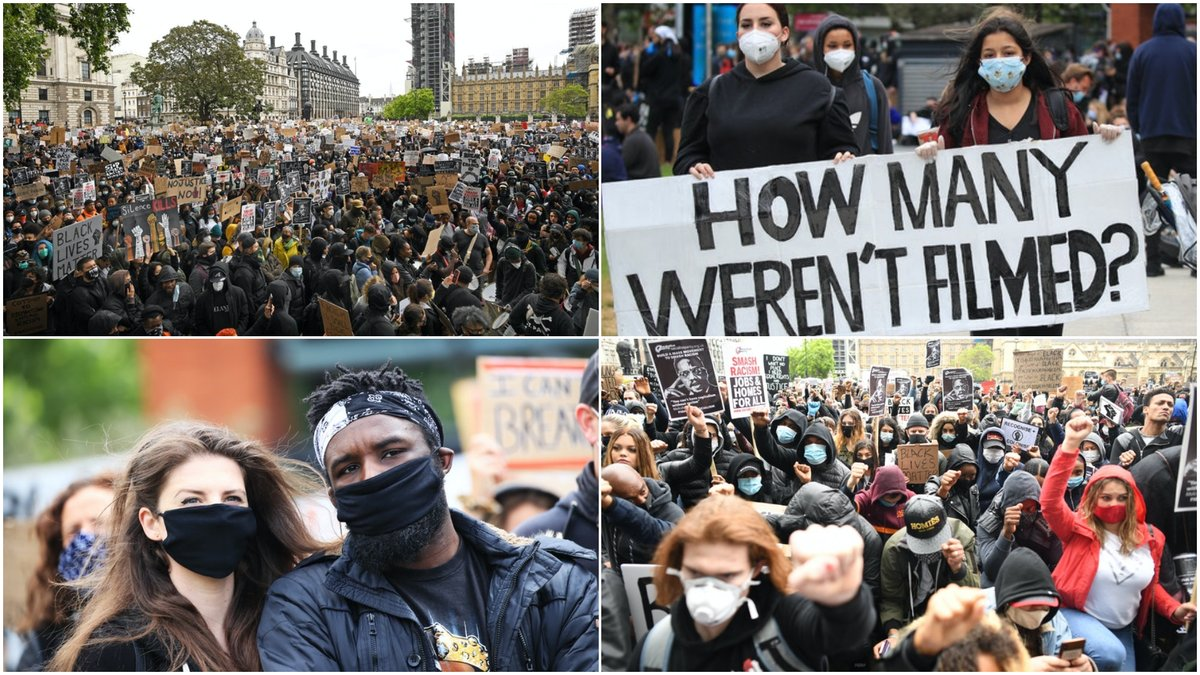 In Pictures: Black Lives Matter protesters take to streets itv.com/news/2020-06-0…