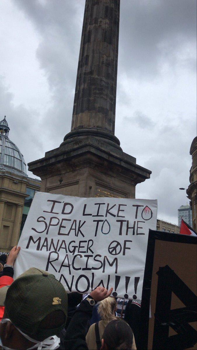 Karen's out in Newcastle #BlackLivesMatter