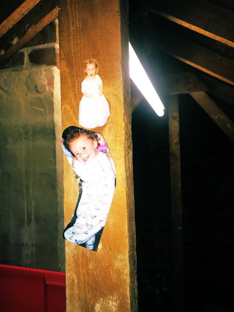 Do u have creepy baby photos stuck to the support pillars in ur loft or are u normal? #cursedimage pic.twitter.com/21JellNKt9