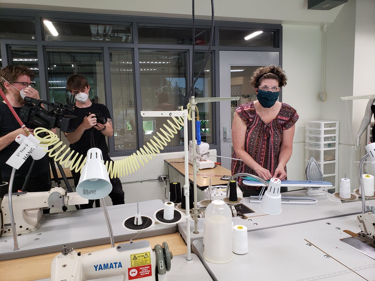 St Clair College On Twitter Fashion Design Graduates Nicole David And Jackie Souliere Helped Coordinator Elainechatwood Develop Sewing Patterns For Facemasks That Are Part Of A Wesparkhealth Research Project The Pattern Making