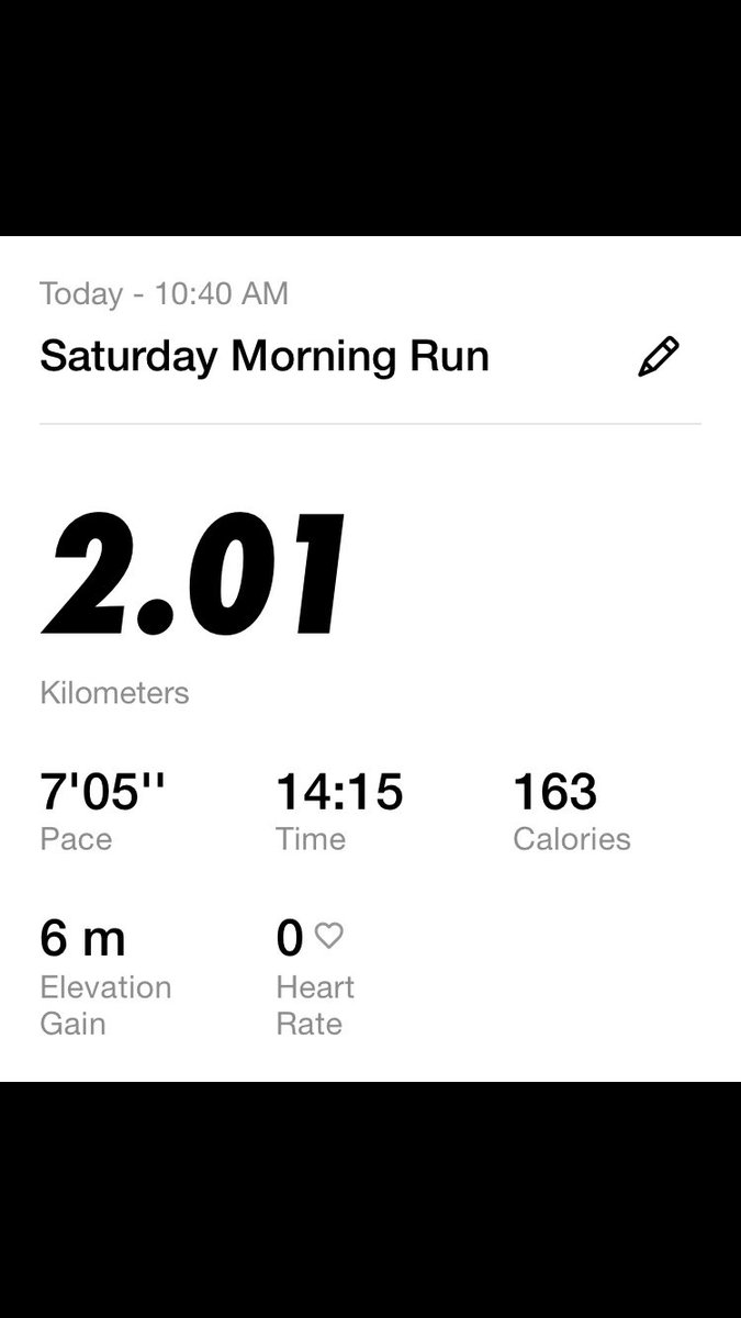 It's been over 2 years since I pushed myself to run over a Km. For the past two months I've been training myself to get a faster and even 1 km. I'm proud of myself today, and will continue to push myself to go further again. My goal is 5 k by the end of August. pic.twitter.com/HI0NhdY8Ai