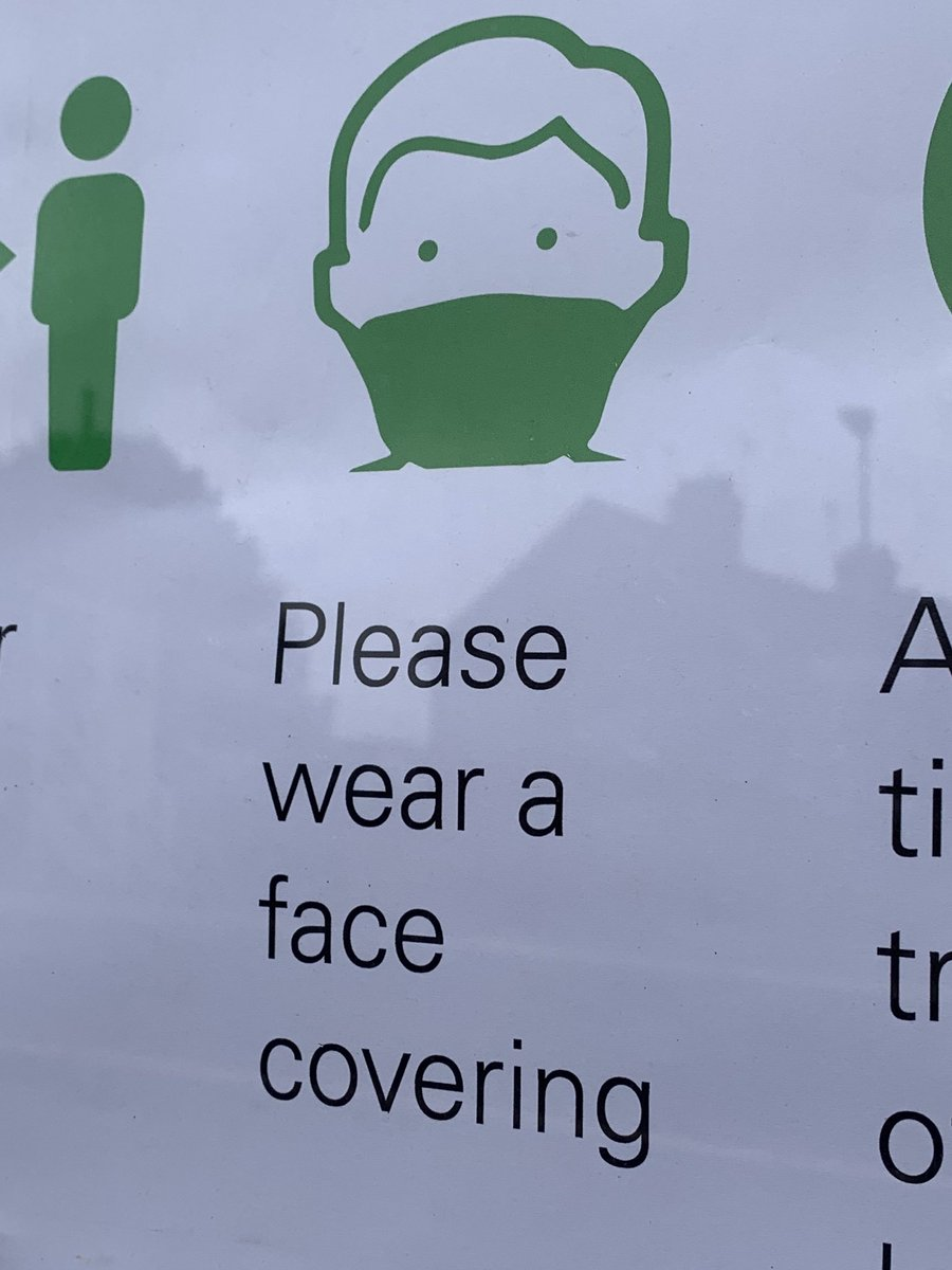 #topsham station already has signage in place ... #coronavirus #facecoverings #facemasks https://t.co/VJKg7BoulW