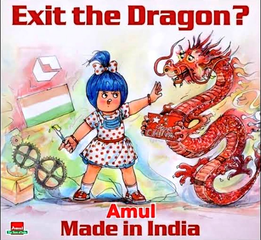 Why Tweeter blocked Amul?? Amul is blocking dragon in India, what's wrong in it? @TwitterIndia #BoycottTwitter #BoycottChina #BoycottChineseProductspic.twitter.com/HqXw1a3TNs
