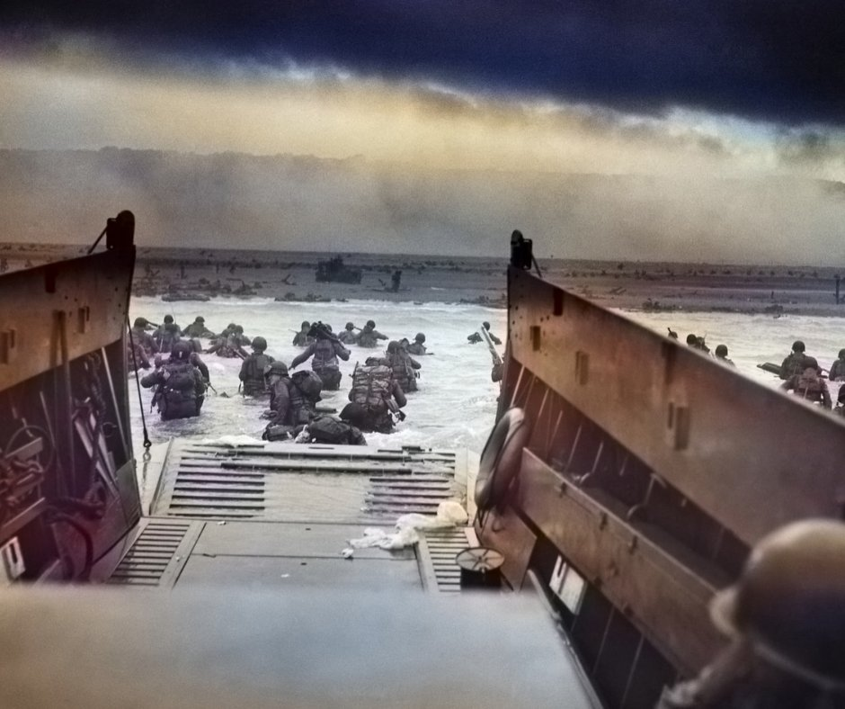 On June 6, 1944, the Allied Forces of Britain, America, Canada, and France attacked German forces on the coast of Normandy, France. With a huge force of over 150,000 soldiers, the Allies attacked and gained a victory that became the turning point for World War II in Europe. pic.twitter.com/SteoskOn9g