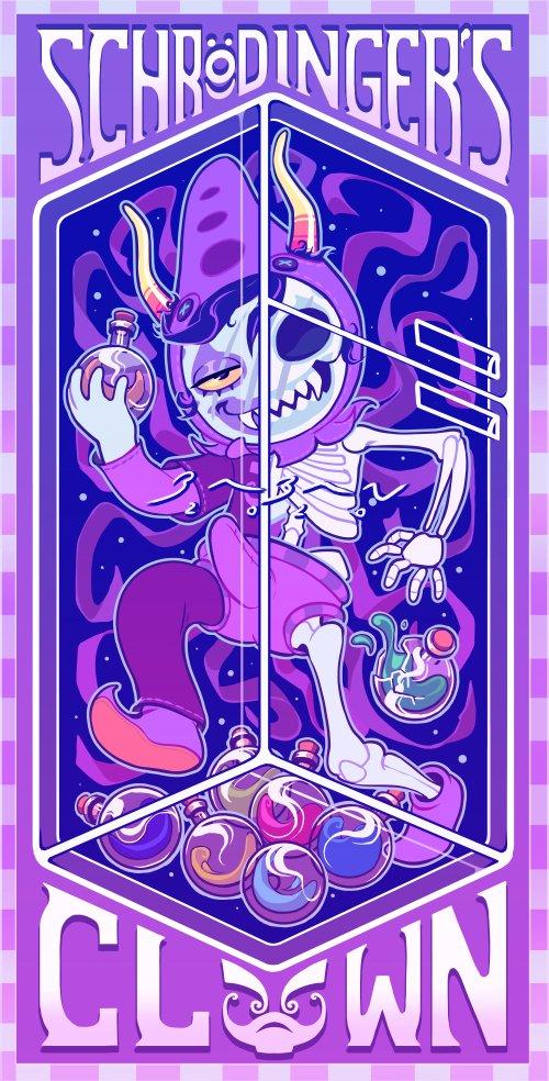 schr:o)dingers clown #homestuck #gamzee #fanart #art #illustration #illustrator #artistpic.twitter.com/pI6Xl5wMpc