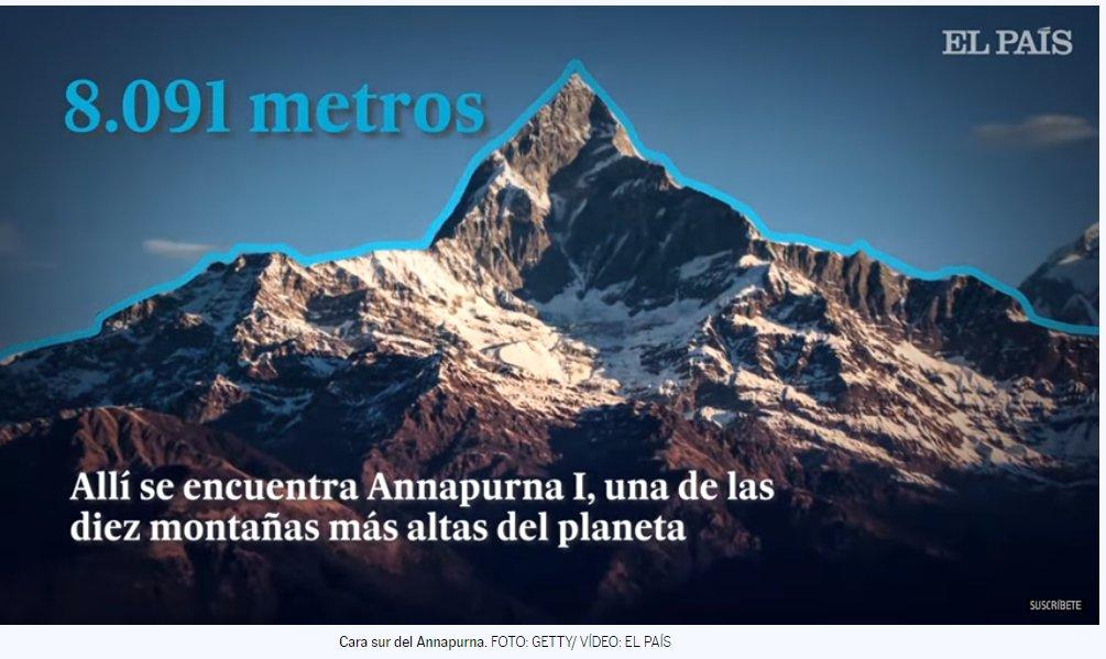 @el_pais Hola. El artículo me ha interesado mucho. Como única pega sugerir que modifiquéis la edición del video. La imagen del pico que aparece no es el Annapurna I sino el Machhapuchhre... Que está efectivamente en la zona del Annapurna pero no es el pico en cuestión. Un abrazo. X https://t.co/lf7Z9AVYKF