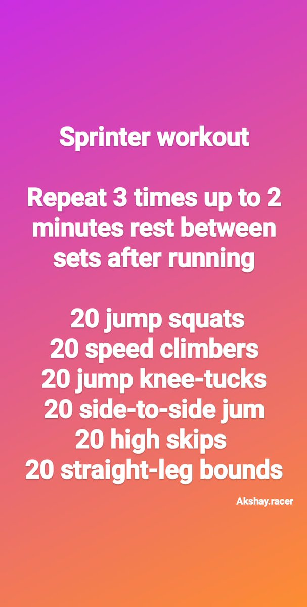 #Sprinter #workout #akshayracer , , , , #running #run #runner #fitness #runners #instarunners #trailrunning #training #runningmotivation #runnersofinstagram #k #marathon #sport #runhappy #motivation #instarun #workout #instarunner #garmin #fit #marathontraining #trail #gym #nikepic.twitter.com/V04rvmdZyC