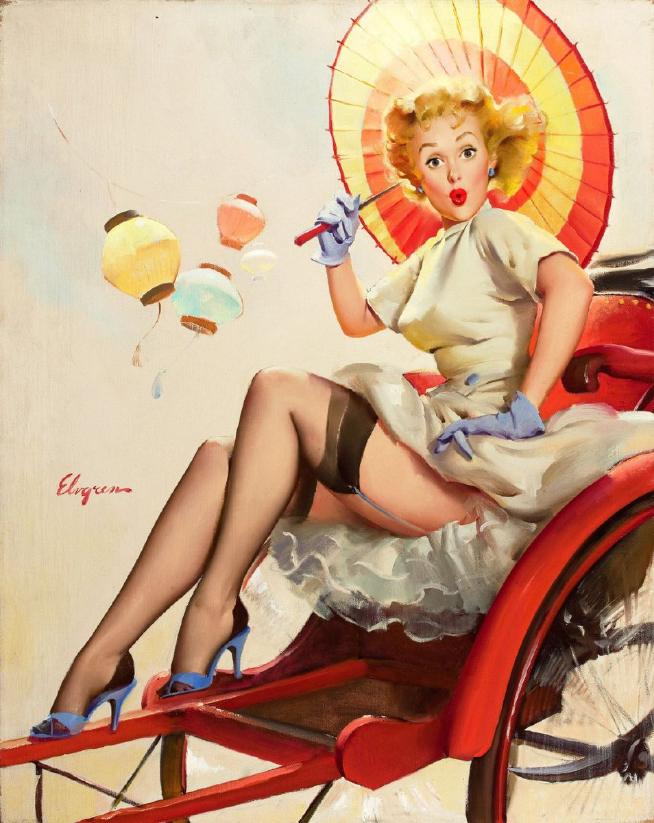 Gillette Elvgren (March 15, 1914 – February 29, 1980) was an American painter of pin-up girls, advertising and illustration.